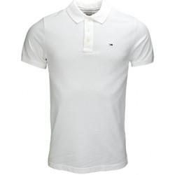 Polos manches courtes Tommy Hilfiger Polo Tommy Hilfiger basic Flag blanc pour homme