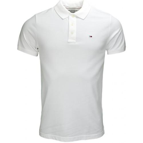 Blanc Pour Flag Homme Tommy Basic Polo Hilfiger JF13ulcTK