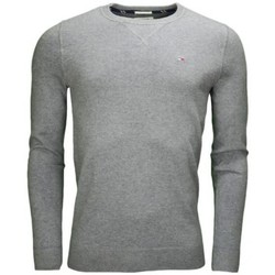Vêtements Homme Pulls Tommy Hilfiger Pull col rond Tommy Hilfiger basique gris pour homme Gris