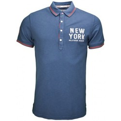 Polos manches courtes Tommy Hilfiger Polo Tommy Hilfiger New York bleu marine pour homme