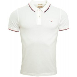 Polos manches courtes Tommy Hilfiger Polo Tommy Hilfiger Dénim Paddy blanc pour homme
