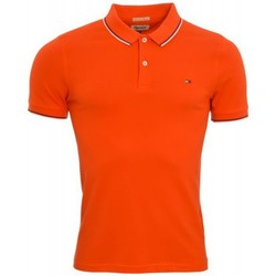 Polos manches courtes Tommy Hilfiger Polo Tommy Hilfiger Dénim Paddy rouge pour homme