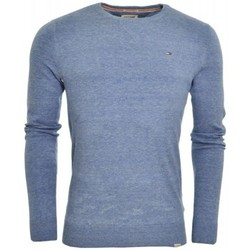 Pulls Tommy Hilfiger Pull col rond Tommy Hiliger Ethan bleu pour homme