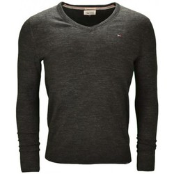 Vêtements Homme Pulls Tommy Hilfiger Pull col V Tommy Hilfiger noir Ethan pour homme Noir