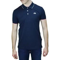 Vêtements Homme Polos manches courtes La Martina Polo basique  Mendez bleu marine pour homme Bleu
