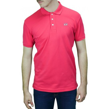 Vêtements Homme Polos manches courtes La Martina Polo basique  Eduardo rose pour homme Rose