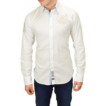 Chemises manches longues La Martina Chemise  Pastor blanche pour homme