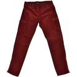 Vêtements Femme Pantalons 5 poches Gant Pantalon cargo velour  rouge bordeaux pour femme Rouge