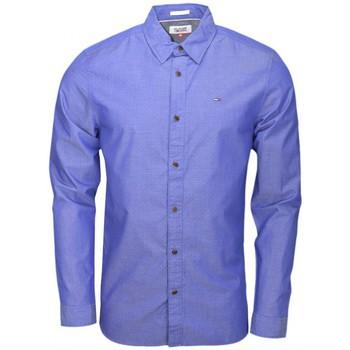 Vêtements Homme Chemises manches longues Tommy Hilfiger Chemise Tommy Hilfger à motifs bleu pour homme Bleu