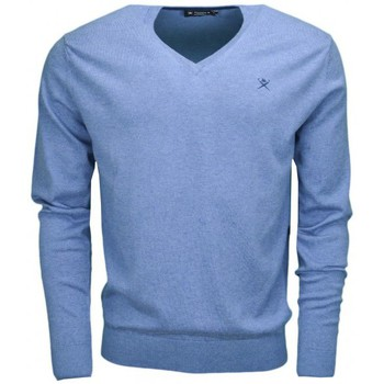 Vêtements Homme Pulls Hackett Pull col V  bleu pour homme Bleu