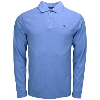 Vêtements Homme Polos manches longues Hackett Polo manches longues  bleu pour homme Bleu