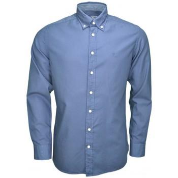 Vêtements Homme Chemises manches longues Hackett Chemise  basique bleu marine pour homme Bleu