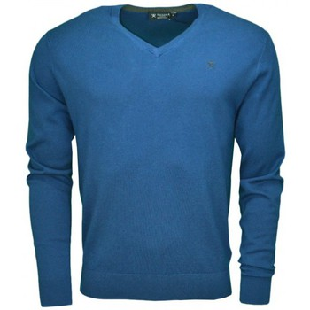 Vêtements Homme Pulls Hackett Pull col V  bleu marine pour homme Bleu