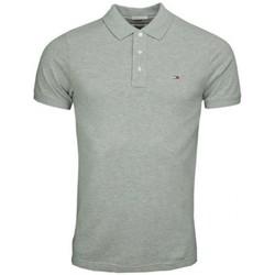 Vêtements Homme Polos manches courtes Tommy Hilfiger Polo Tommy Hilfiger Dénim gris Original 3 boutons pour homme Gris