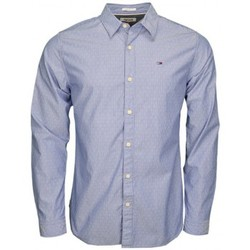 Chemises manches longues Tommy Hilfiger Chemise rayée Tommy Hilfiger Dobby bleu marine pour homme