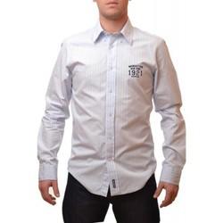 Vêtements Homme Chemises manches longues Mcgregor Chemise  bleu Phil Gilles pour homme Bleu