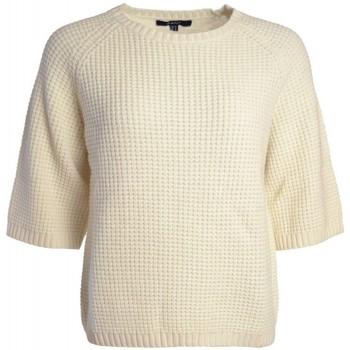 Vêtements Femme Pulls Gant Pull  blanc crème Tuck pour femme Blanc