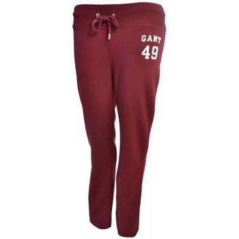Vêtements Femme Pantalons Gant Pantalon de survêt  rouge bordeaux pour femme Rouge