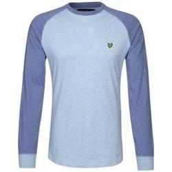 Vêtements Homme T-shirts manches longues Lyle & Scott T-Shirt Lyle and Scott bleu à manches longues pour homme Bleu