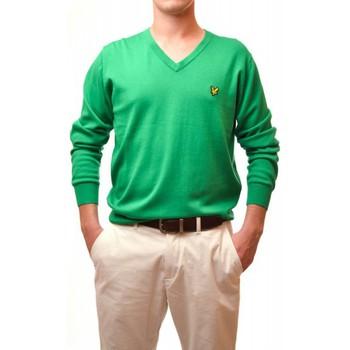 Vêtements Homme Pulls Lyle & Scott Pull Lyle and Scott vert col v pour homme Vert