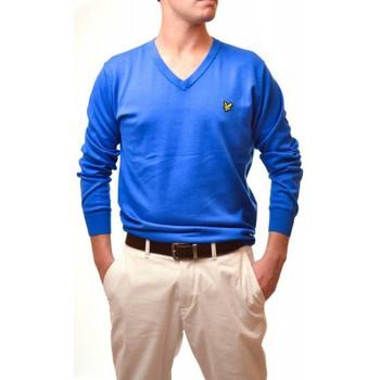 Vêtements Homme Pulls Lyle & Scott Pull Lyle and Scott bleu col v pour homme Bleu