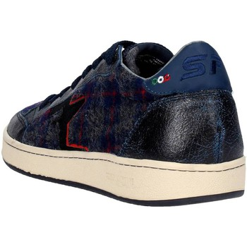 Baskets basses Serafini CAMP.16 Sneakers Homme Suède  Tartan