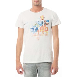 T-shirts manches courtes Meltin'pot Tee Shirt Mc Arca006  Ecru