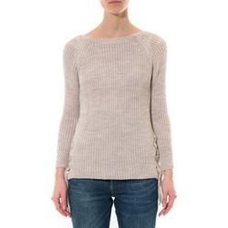 Vêtements Femme Pulls De Fil En Aiguille Pull Lacets Beige Beige