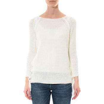 Vêtements Femme Pulls De Fil En Aiguille Pull Lacets Blanc Blanc