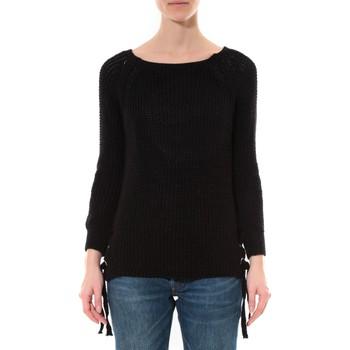 Vêtements Femme Pulls De Fil En Aiguille Pull Lacets Noir Noir