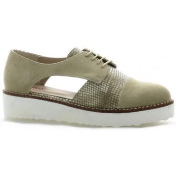 Vidi Studio Derby cuir python Taupe - Chaussures Derbies Femme
