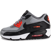 Chaussures Enfant Baskets basses Nike Air Max 90 Mesh Enfant Gris/Orange