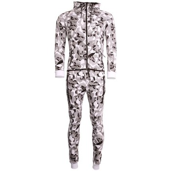Ensembles de survêtement Cabaneli Ensemble Survêtement Jogging Tech Camo Blanc Metric