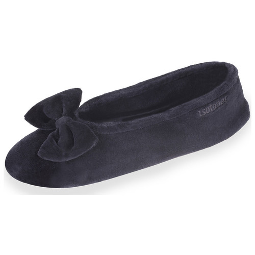 Chaussures Femme Chaussons Isotoner Chaussons ballerines femme noir