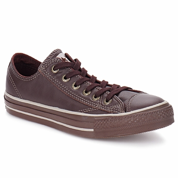Chaussures Baskets basses Converse ALL STAR SOFT LEATHER OX Marron