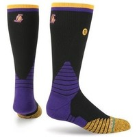 Chaussettes Stance Chaussettes  NBA On Court Logo Crew Los Angeles Lakers