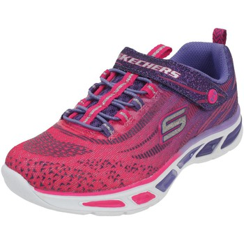 Chaussures Fille Multisport Skechers Litebeams lumiere Rose