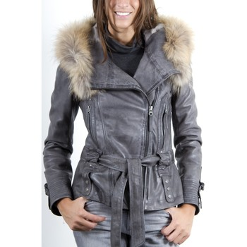 Vêtements Femme Vestes en cuir / synthétiques Giorgio Eloise Gris Gris