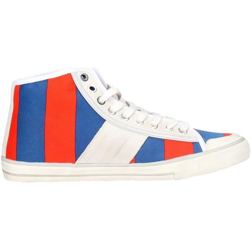 Chaussures Femme Baskets basses Date D.a.t.e. TENDER HIGH-94 Haute Sneakers Femme Bleu/Orange Bleu/Orange