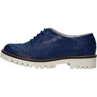 Chaussures Femme Derbies Hb Helene chaussures femme  élégantes bleu cuir AF03 bleu