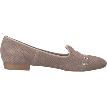 Chaussures Femme Mocassins Carmens Padova chaussures femme  mocassins gris cuir python AF36 gris