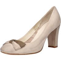 Chaussures Femme Escarpins Carmens Padova chaussures femme  escarpins beige cuir scamosciata AF52 beige