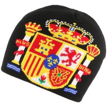 Accessoires textile Bonnets Nyls Création Bonnet Espagne Noir Jaune Rouge Noir