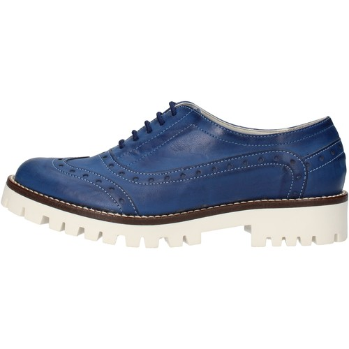 Chaussures Femme Ville basse Olga Rubini chaussures femme  élégantes bleu cuir AF117 bleu