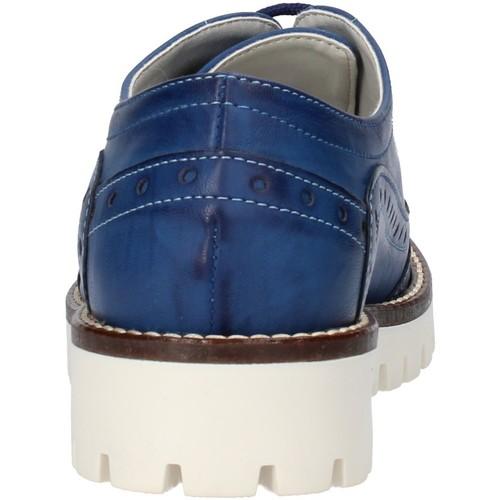 élégantes bleu cuir AF117 Olga Rubini derbies & richelieu femme bleu
