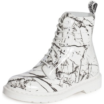 Chaussures Femme Boots Dr Martens Pascal Marble Blanc