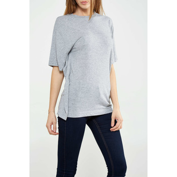 Vêtements Femme T-shirts manches courtes Cheap Monday Tee Shirt Big Tee Gris Femme Gris
