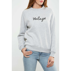 Vêtements Femme T-shirts manches longues Asap Paris Sweat Shirt  Charlotte Gris Chine Femme Gris
