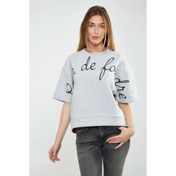 Vêtements Femme T-shirts manches longues Asap Paris Sweat Shirt  Mathilde Gris Chine Femme Gris