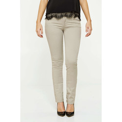 Vêtements Femme Chinos / Carrots Liu Jo Pantalon Highwaist Beige Beige